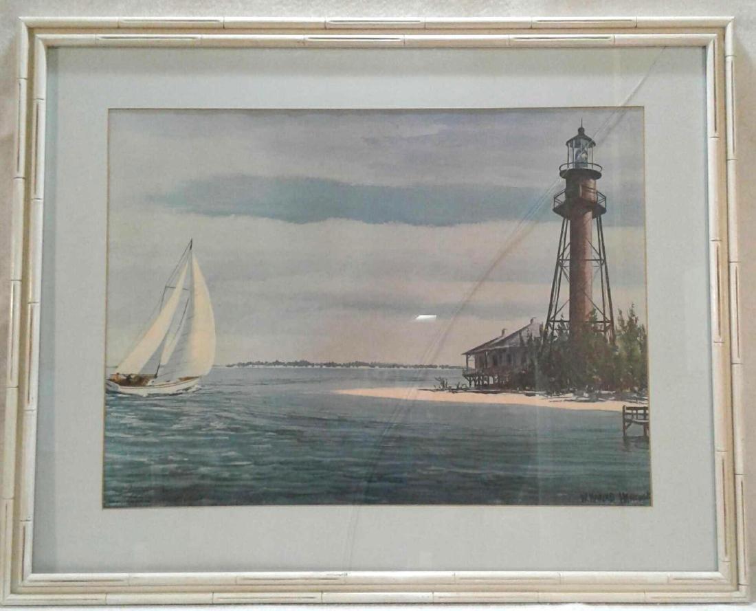 William Henry Hancock Sanibel Lighthouse Painting