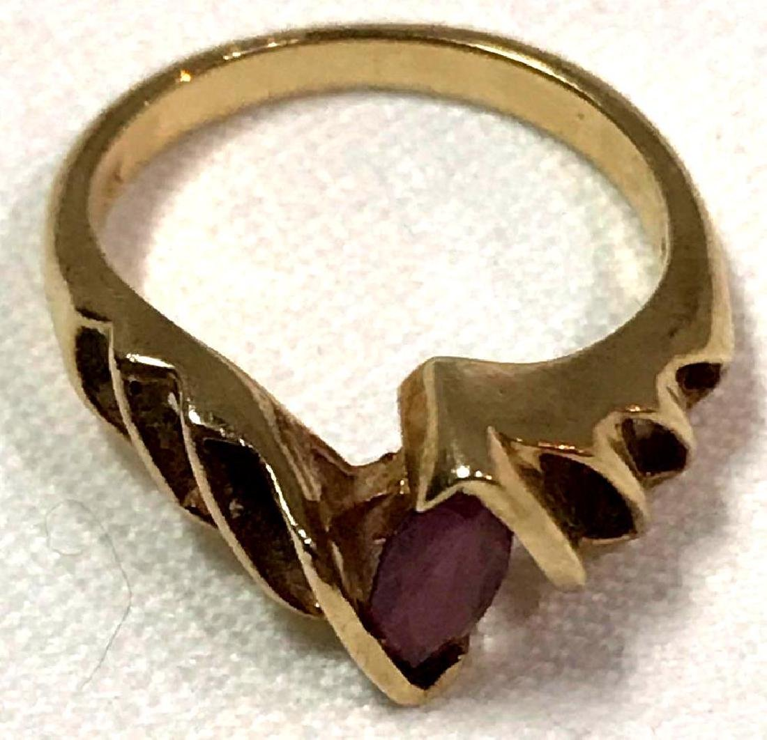 Vintage 14K Gold and Amethyst Ring