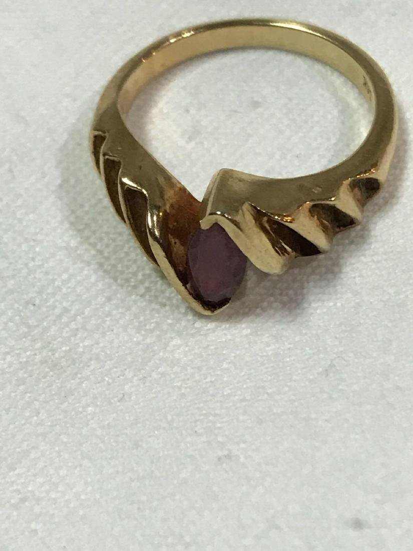 Vintage 14K Gold and Amethyst Ring - 5