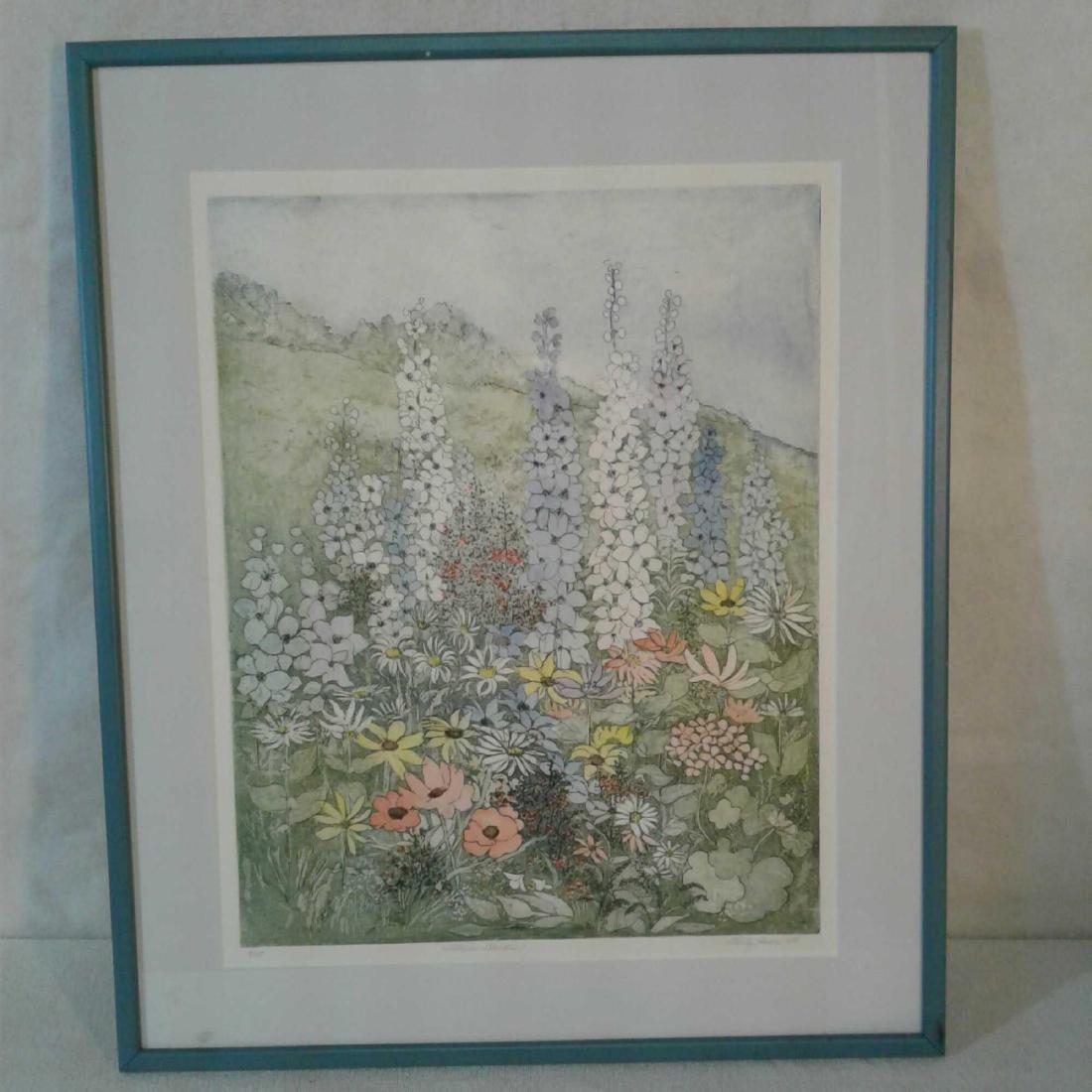 """Flower Garden"" by Shirley Hiner 1984"