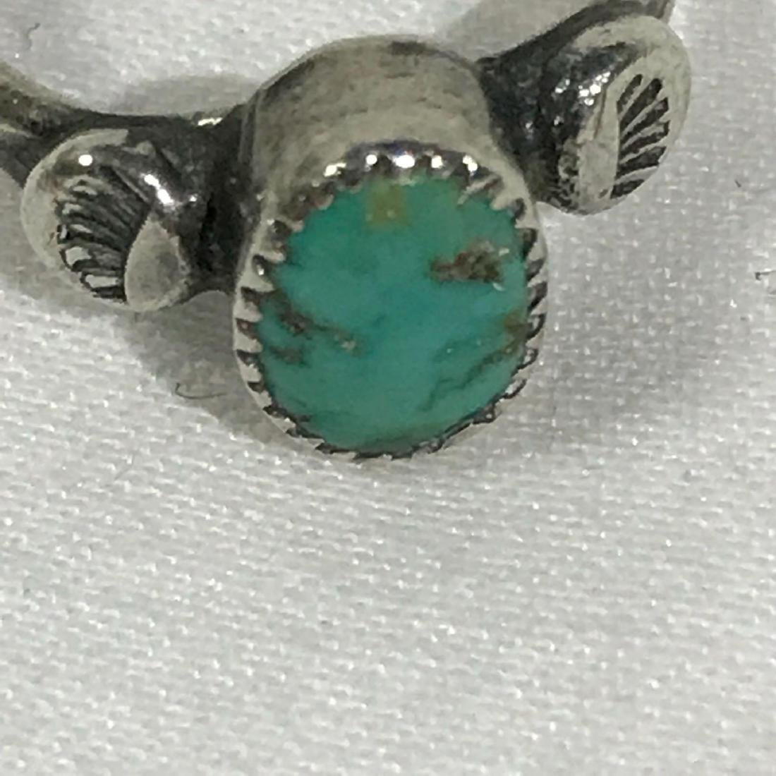 Sterling Silver and Turquoise Ring - 6