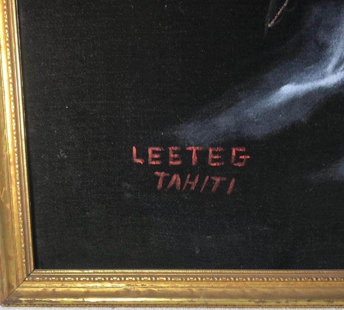 Original 1940's Leeteg of Haiti Velvet Painting - 2