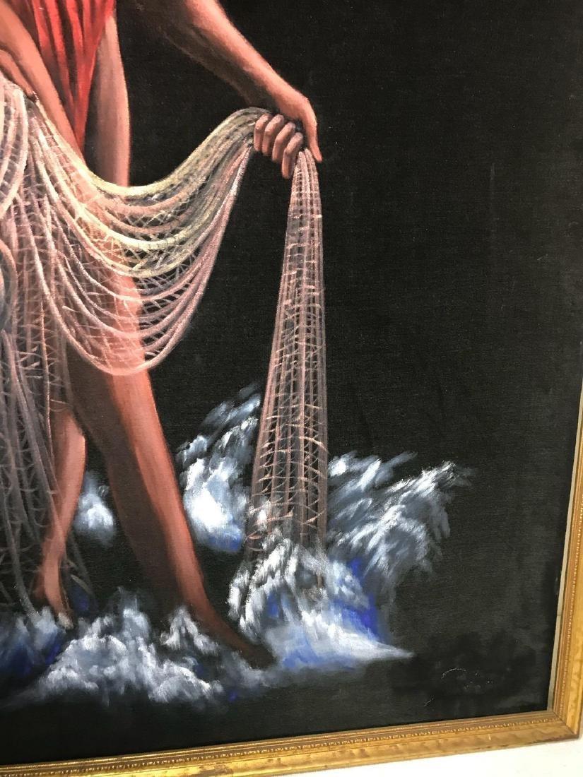 Original 1940's Leeteg of Haiti Velvet Painting - 4