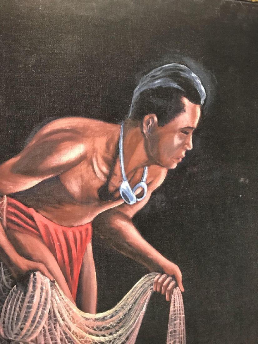 Original 1940's Leeteg of Haiti Velvet Painting - 5