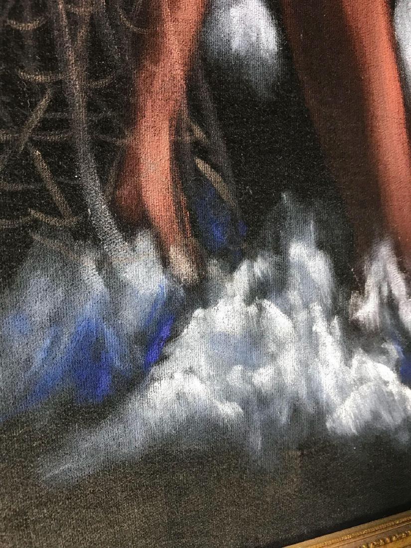 Original 1940's Leeteg of Haiti Velvet Painting - 8