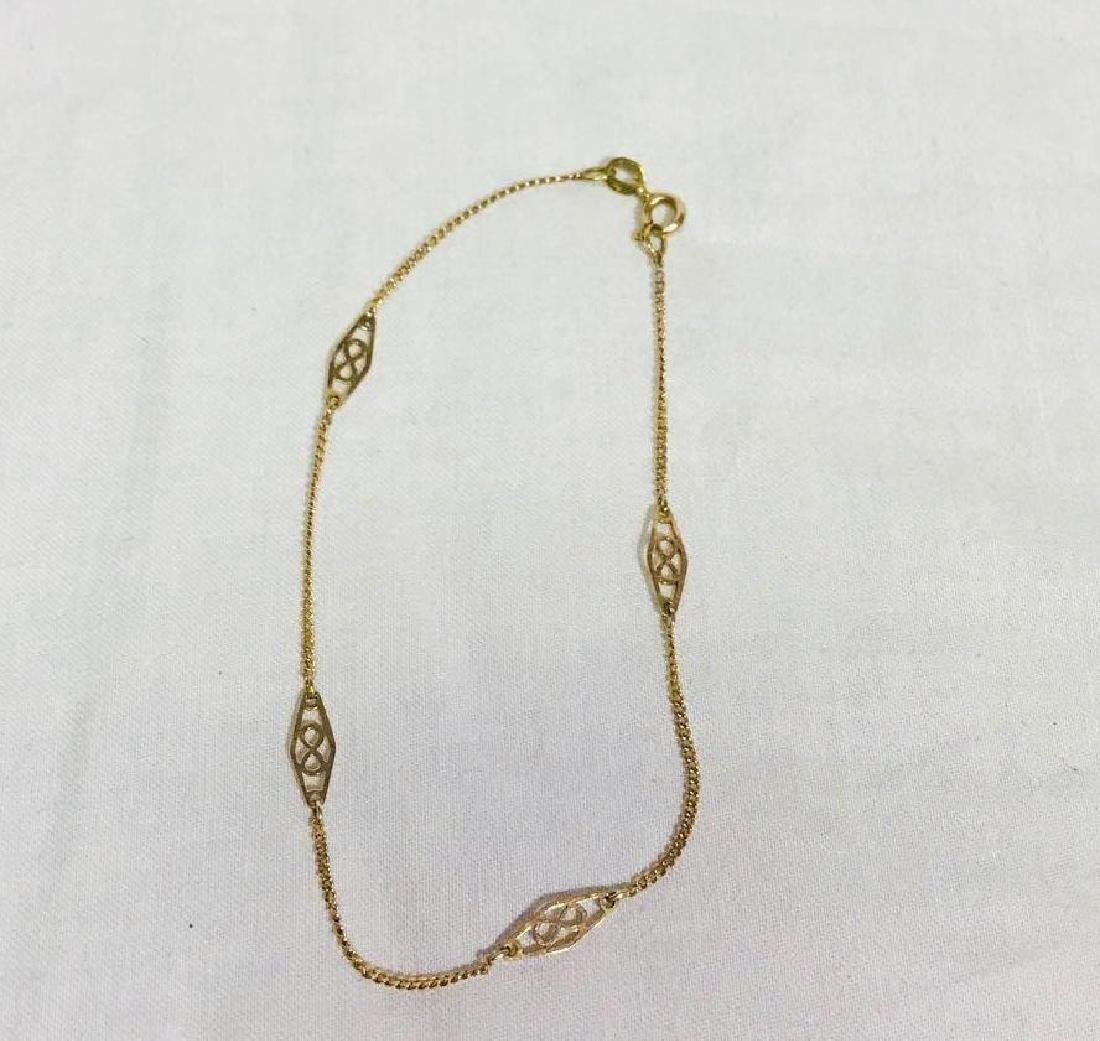 Vintage 14k Gold Infinity Bracelet - 2