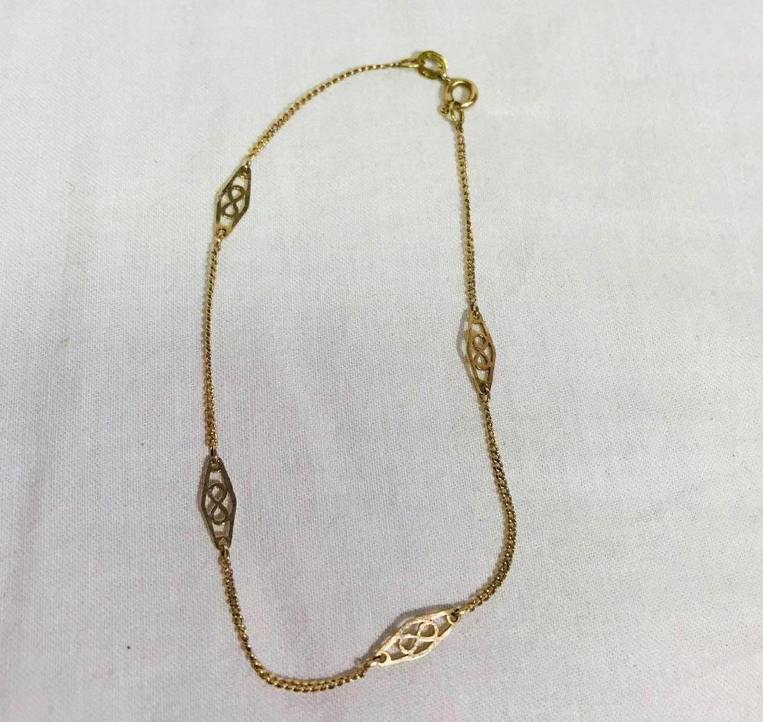 Vintage 14k Gold Infinity Bracelet - 3