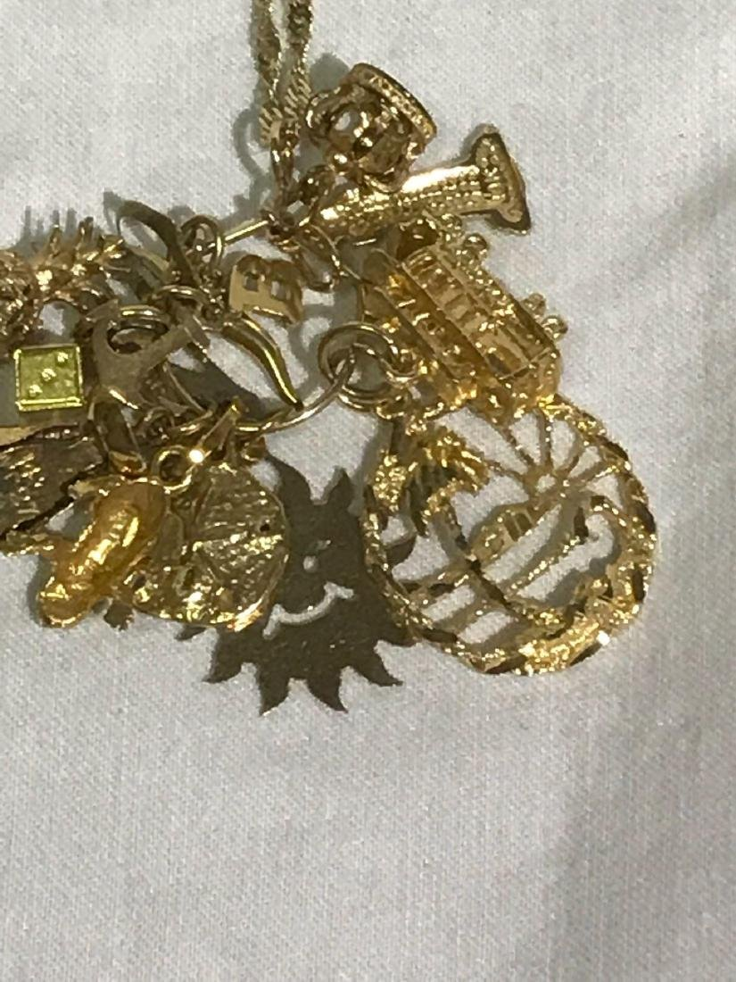 Vintage 14k Necklace with Souvenir Charms - 3