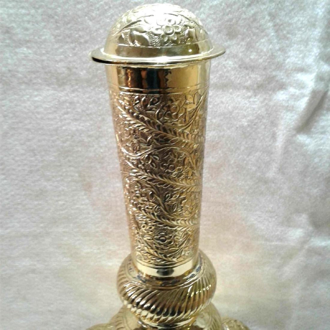 Vintage Large Brass Urn - 2
