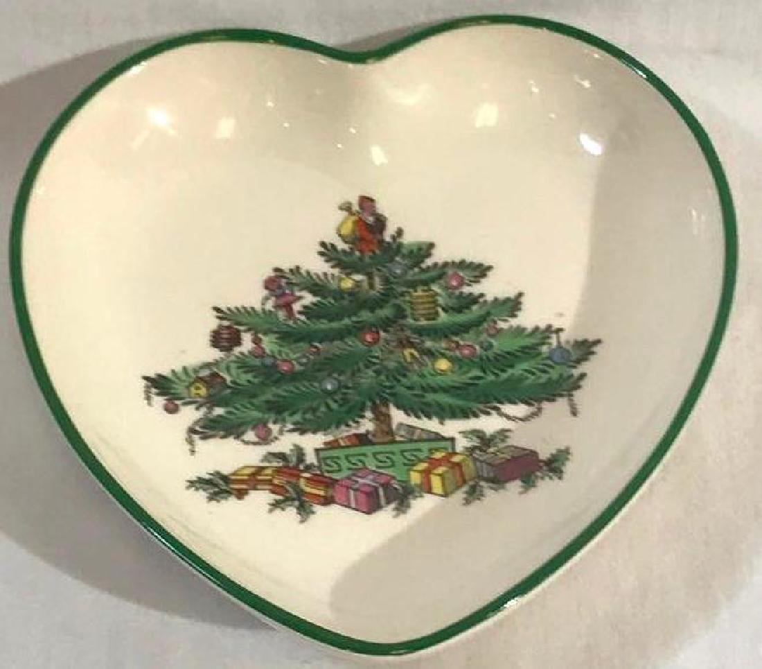 Spode China Heart Shaped Christmas Dish