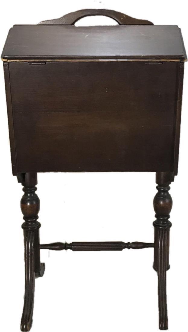 Antique Priscilla Sewing Caddy Storage Table