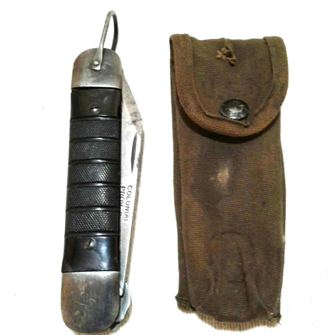 WWII Pilot Survival Knife with US Pouch
