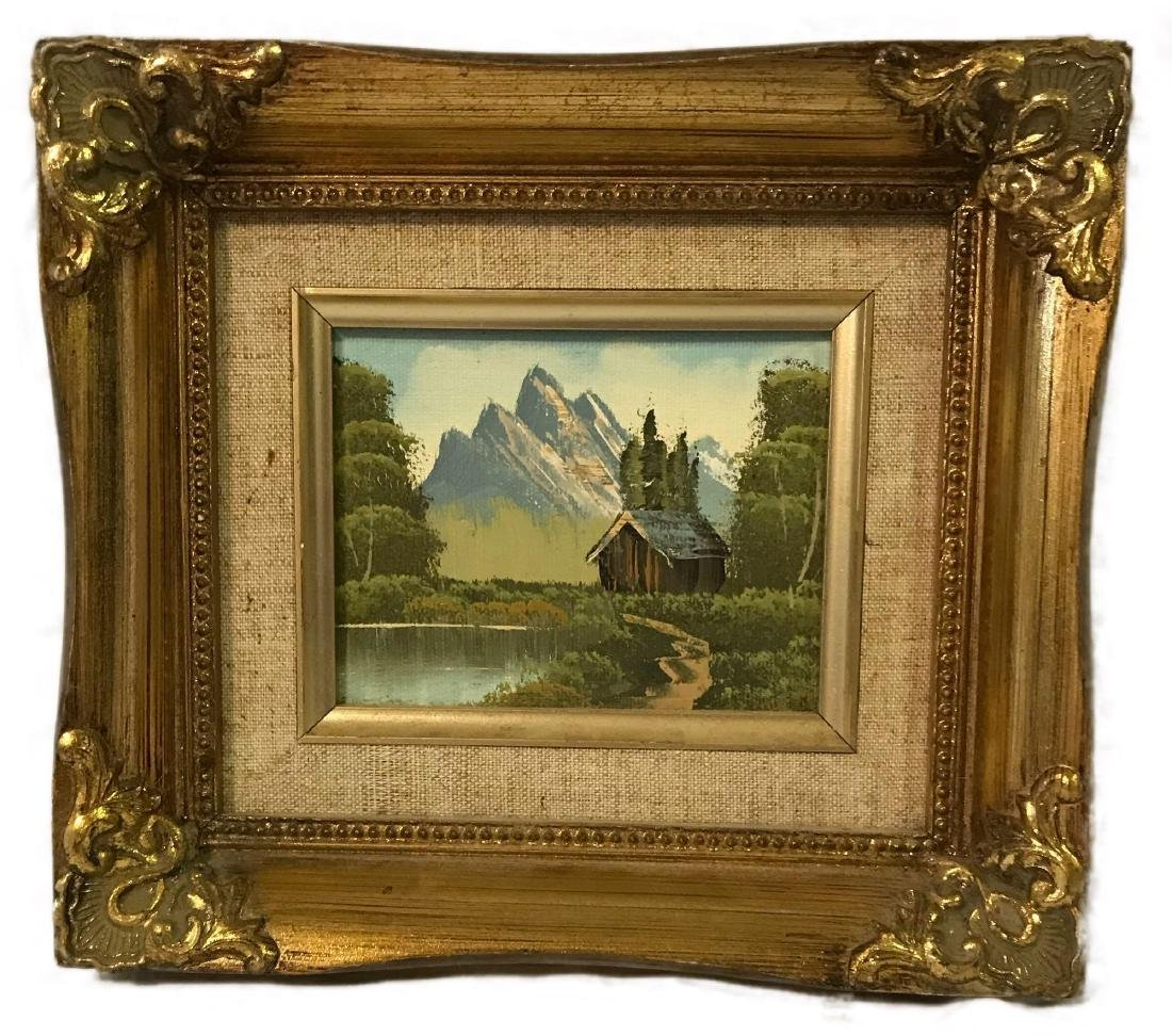 Small Framed Landscape Oil Painting