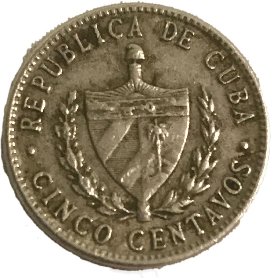 1961 Cinco 5 Centavos Cuba Coin