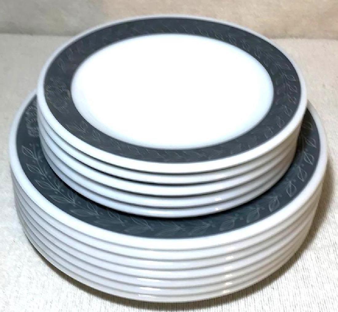 12 Pyrex Double Tough Plates Grecian Pattern