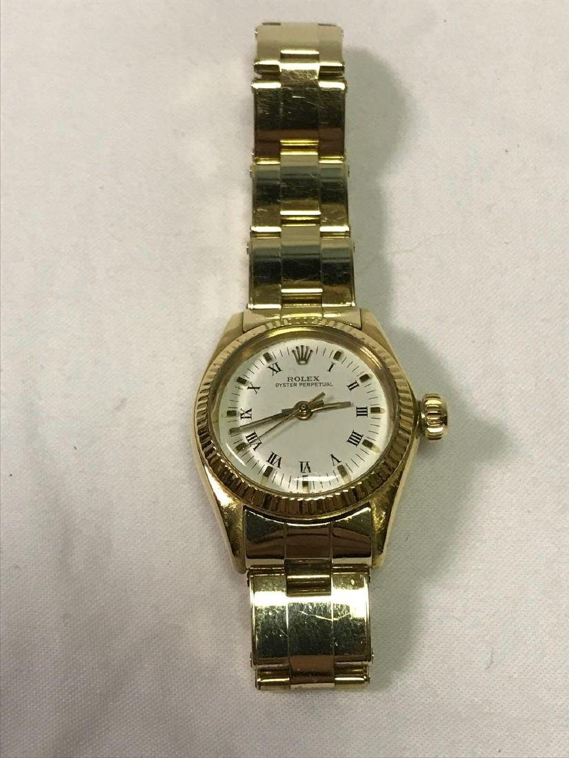 Vintage Ladies Oyster Perpetual 14k Rolex - 11