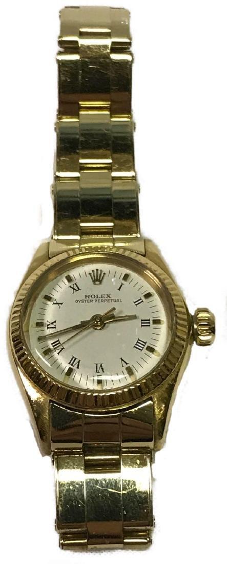 Vintage Ladies Oyster Perpetual 14k Rolex
