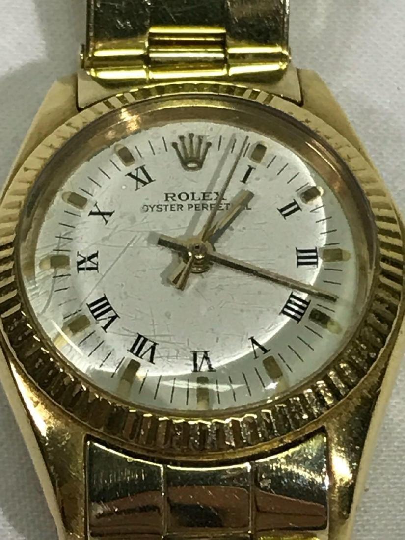 Vintage Ladies Oyster Perpetual 14k Rolex - 2