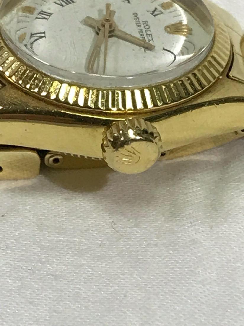 Vintage Ladies Oyster Perpetual 14k Rolex - 4