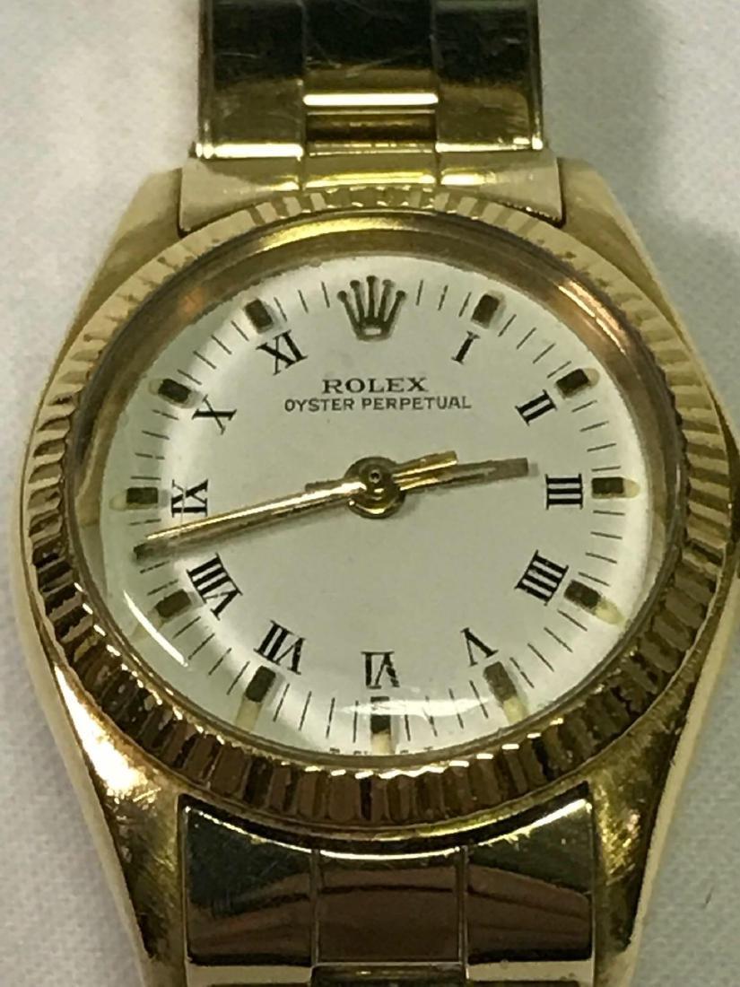 Vintage Ladies Oyster Perpetual 14k Rolex - 9