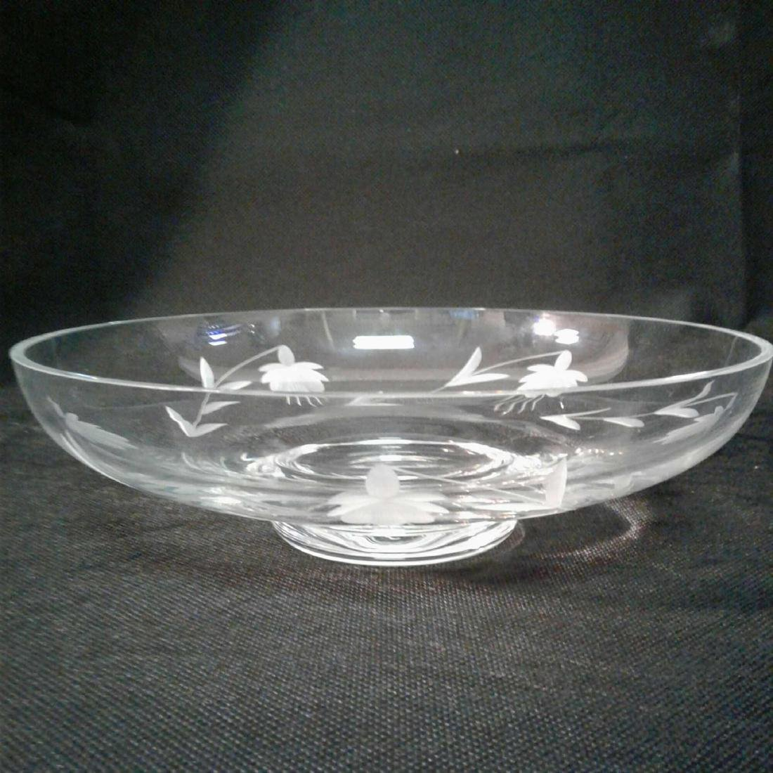 Etched Glass Decorative Bowl