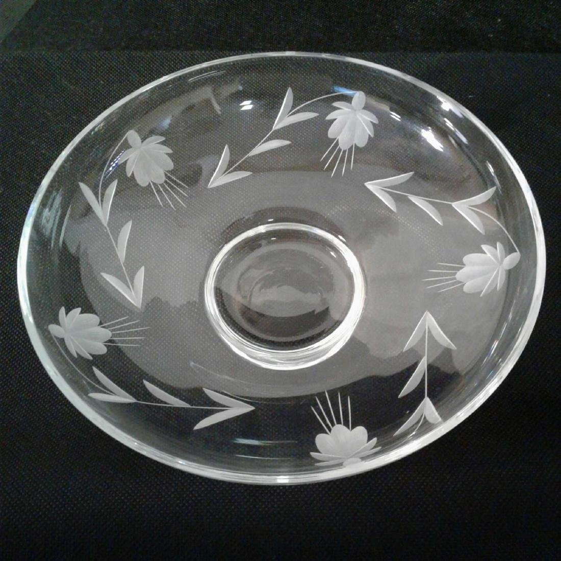 Etched Glass Decorative Bowl - 2