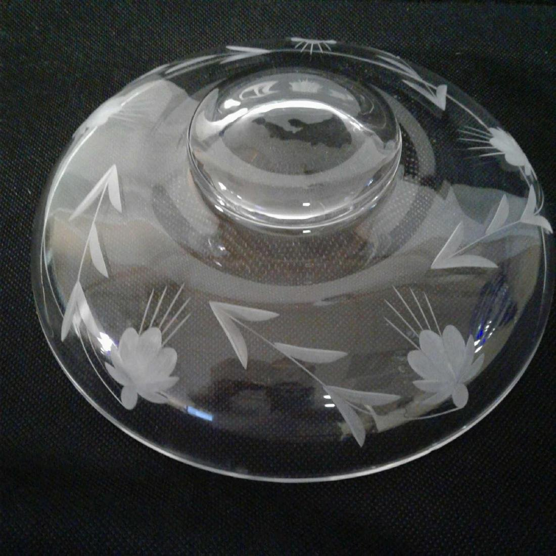 Etched Glass Decorative Bowl - 3