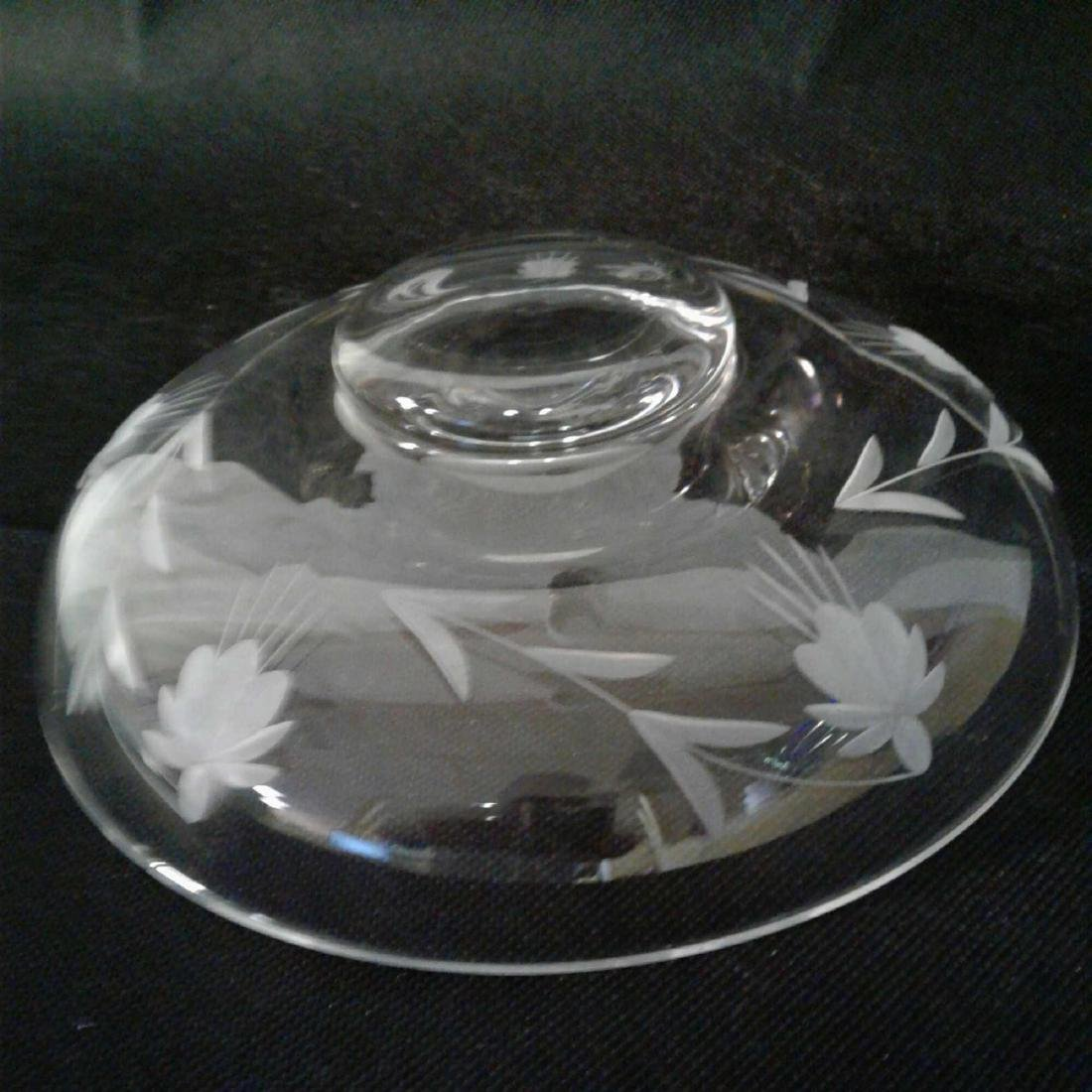 Etched Glass Decorative Bowl - 4