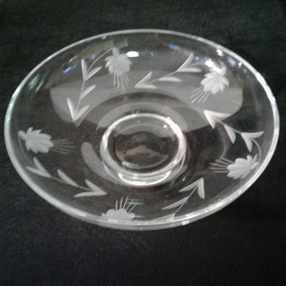 Etched Glass Decorative Bowl - 6