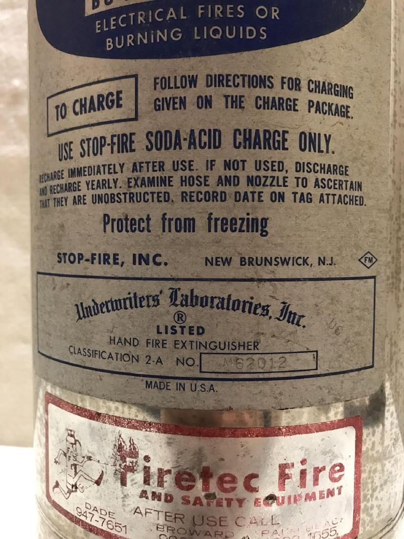 Vintage Chrome Stop Fire Extinguisher - 4