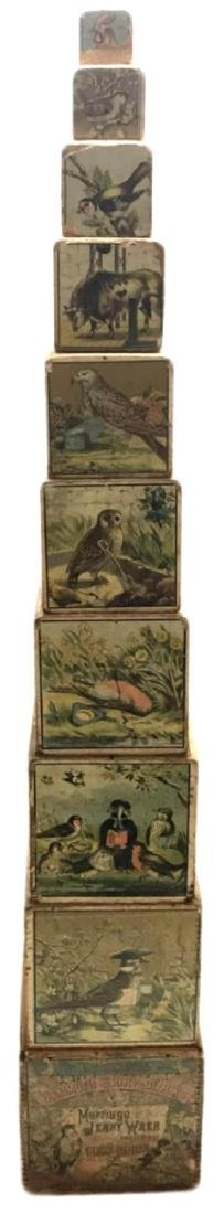 Antique Marriage of Jenny Wren Nesting Blocks