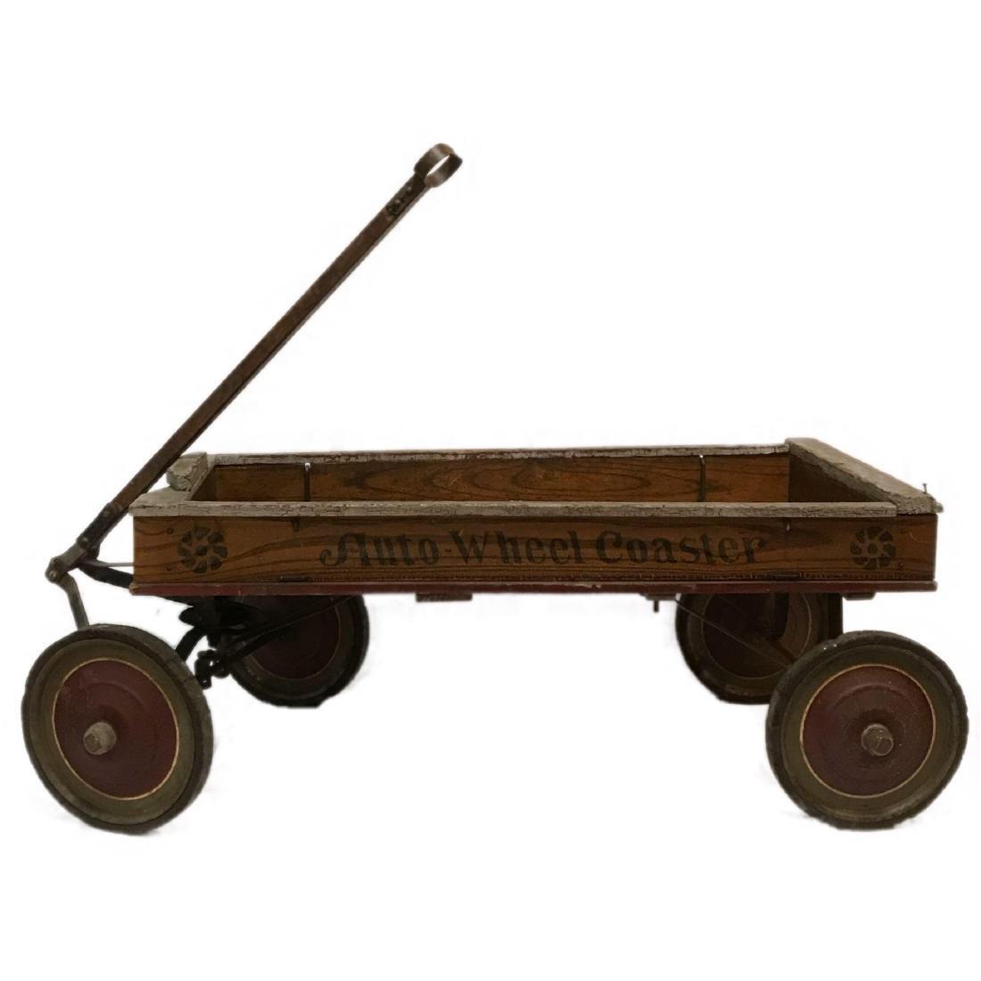 1916 Auto Wheel Coaster Wooden Wagon