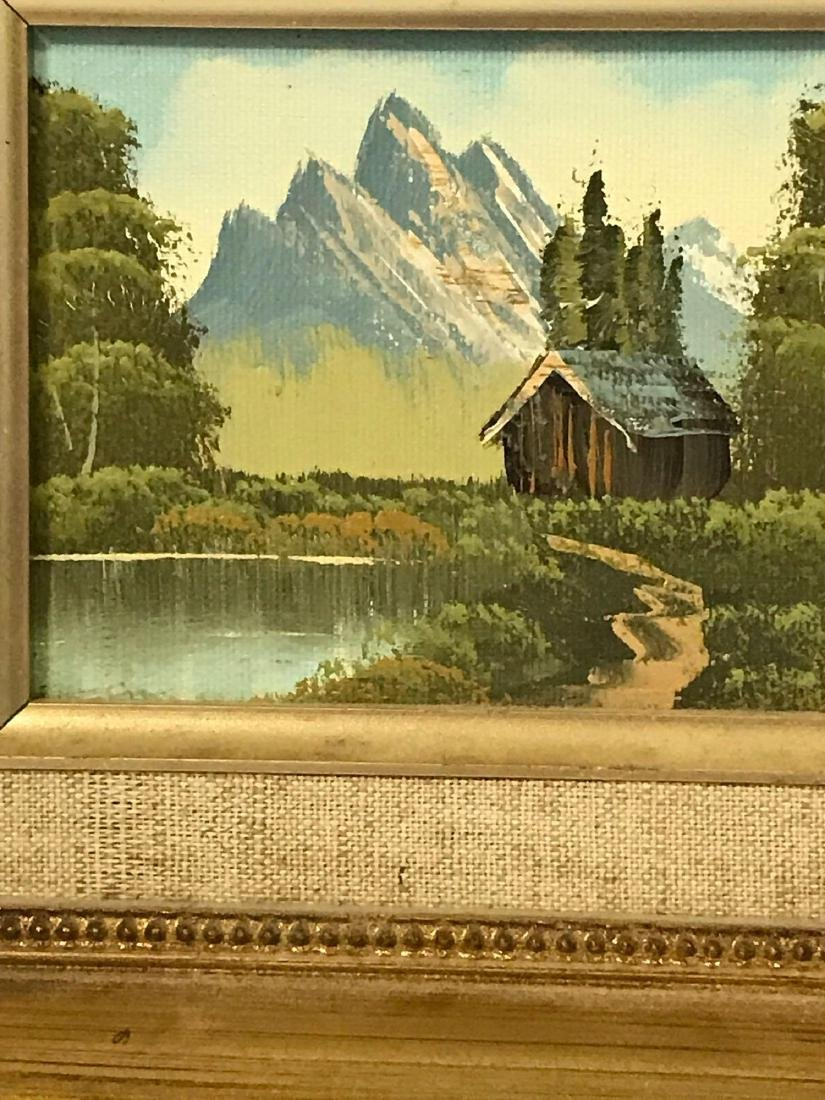 Small Framed Landscape Oil Painting - 2