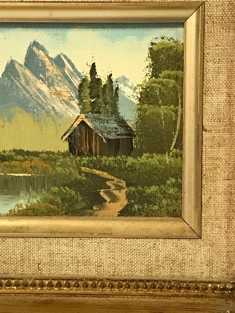 Small Framed Landscape Oil Painting - 3