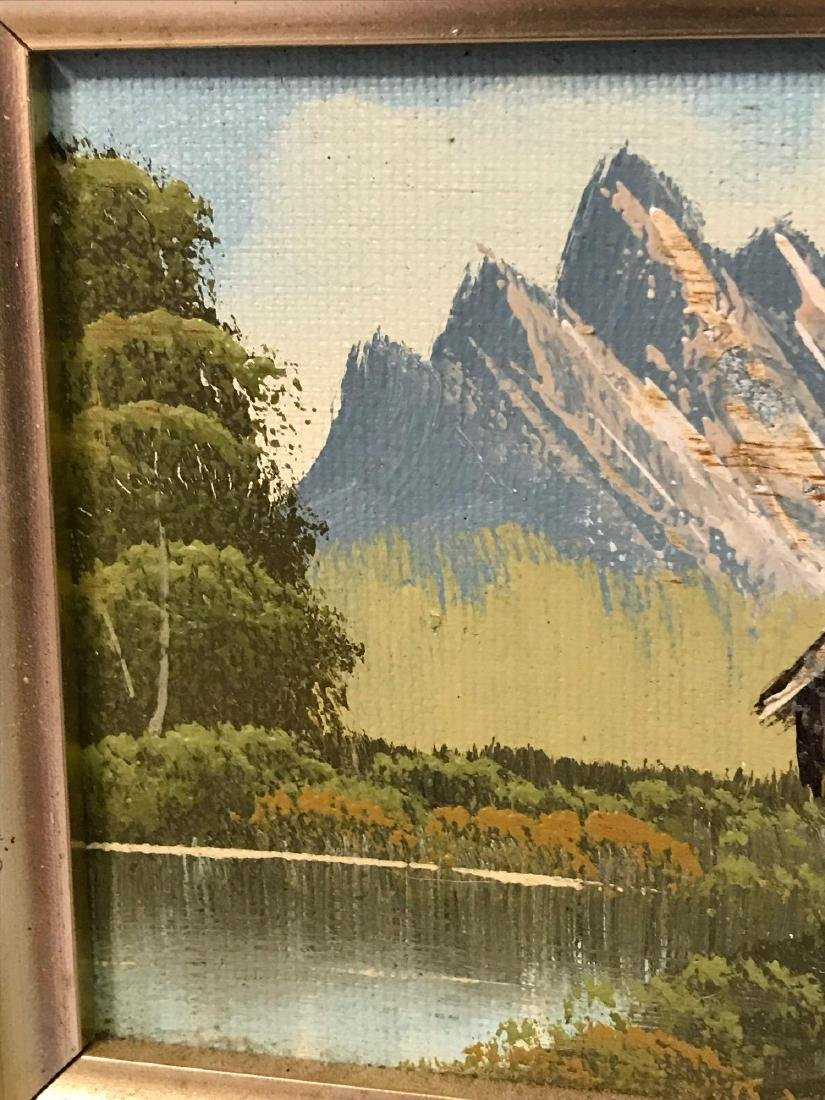 Small Framed Landscape Oil Painting - 5
