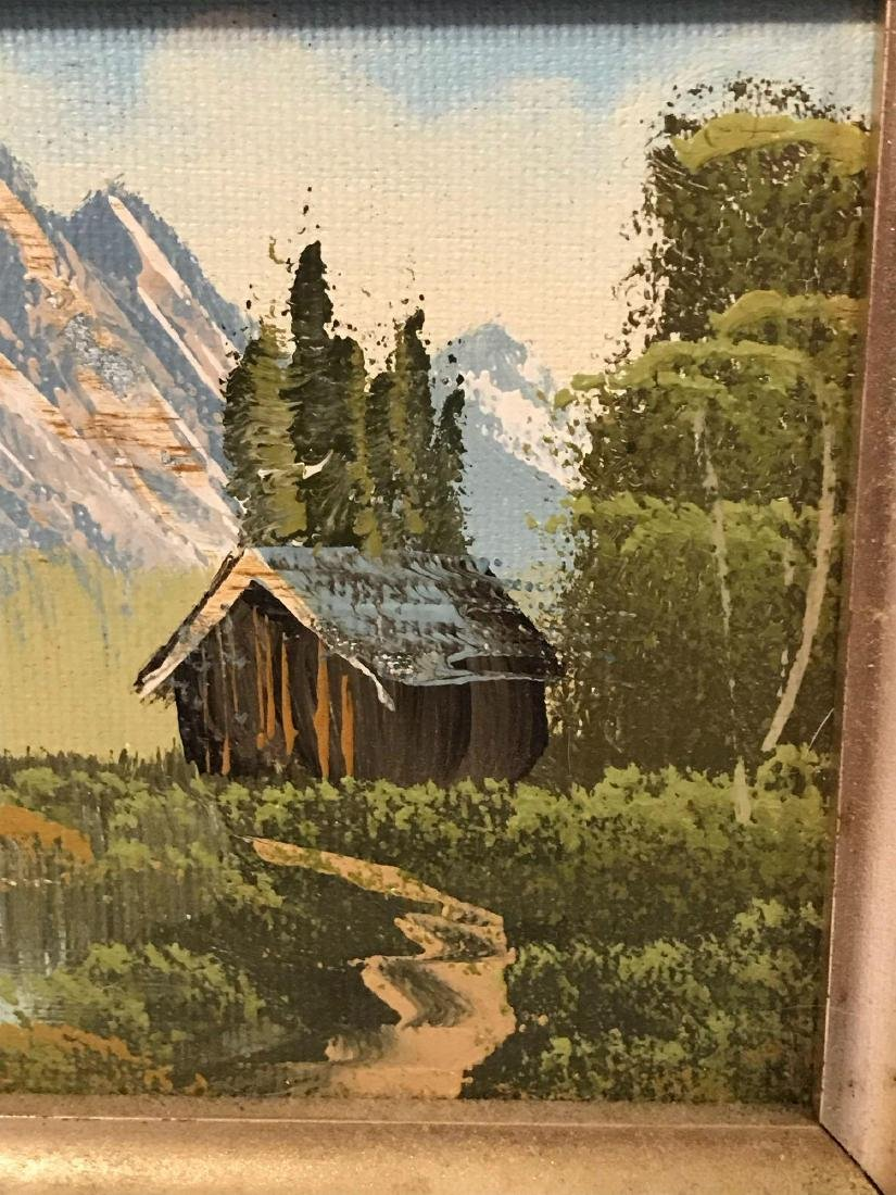 Small Framed Landscape Oil Painting - 6