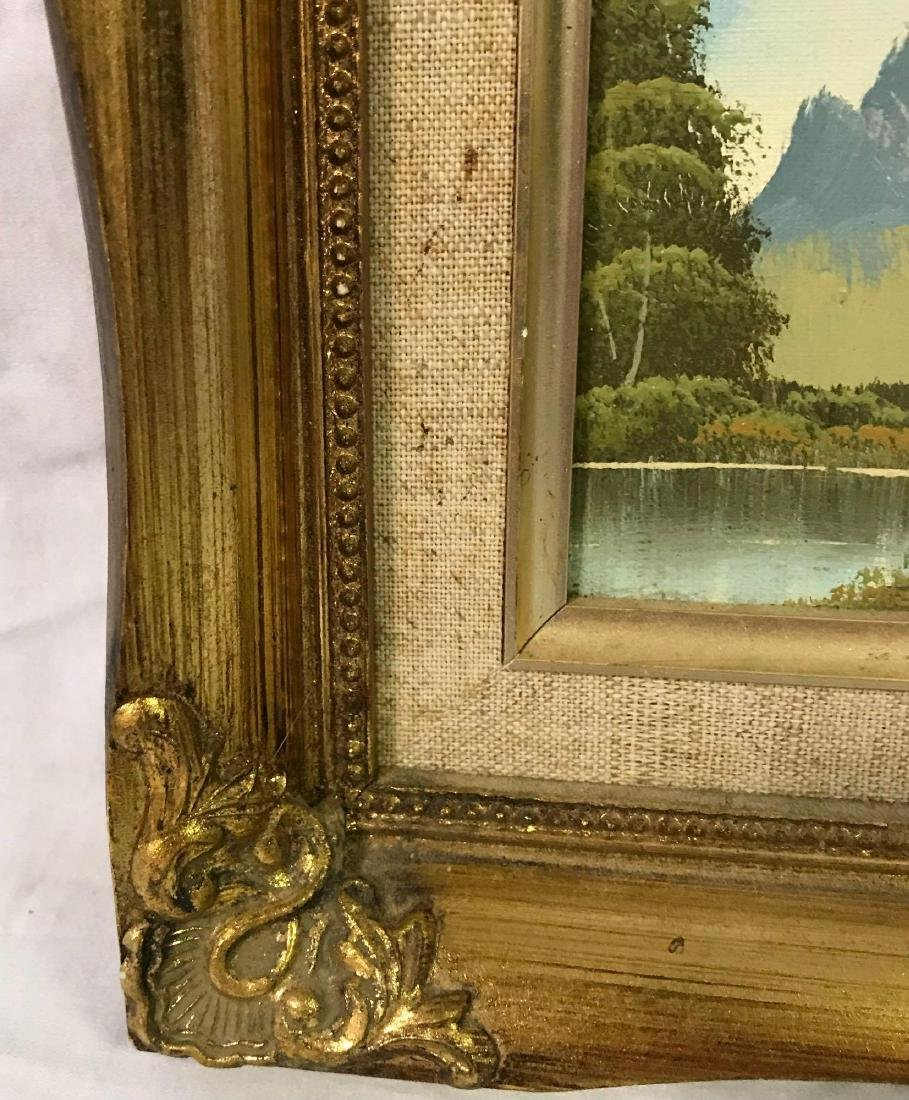 Small Framed Landscape Oil Painting - 8