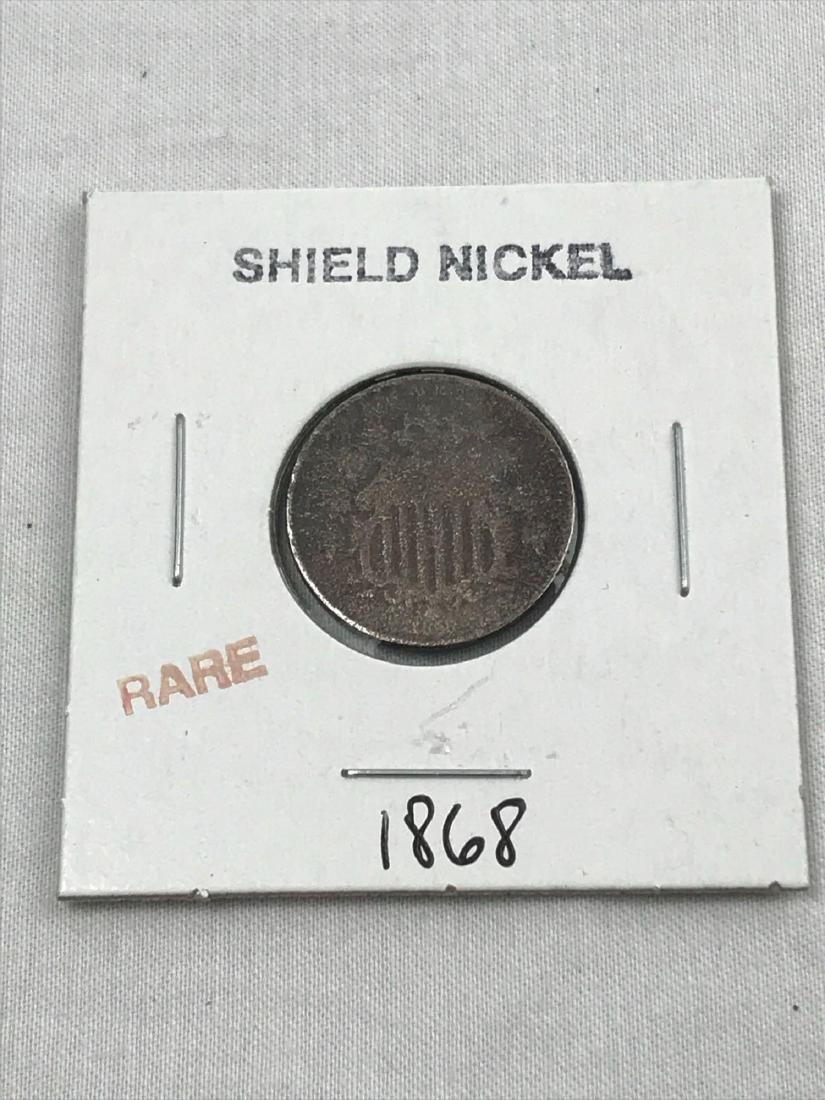 Rare Shield Nickel,1868