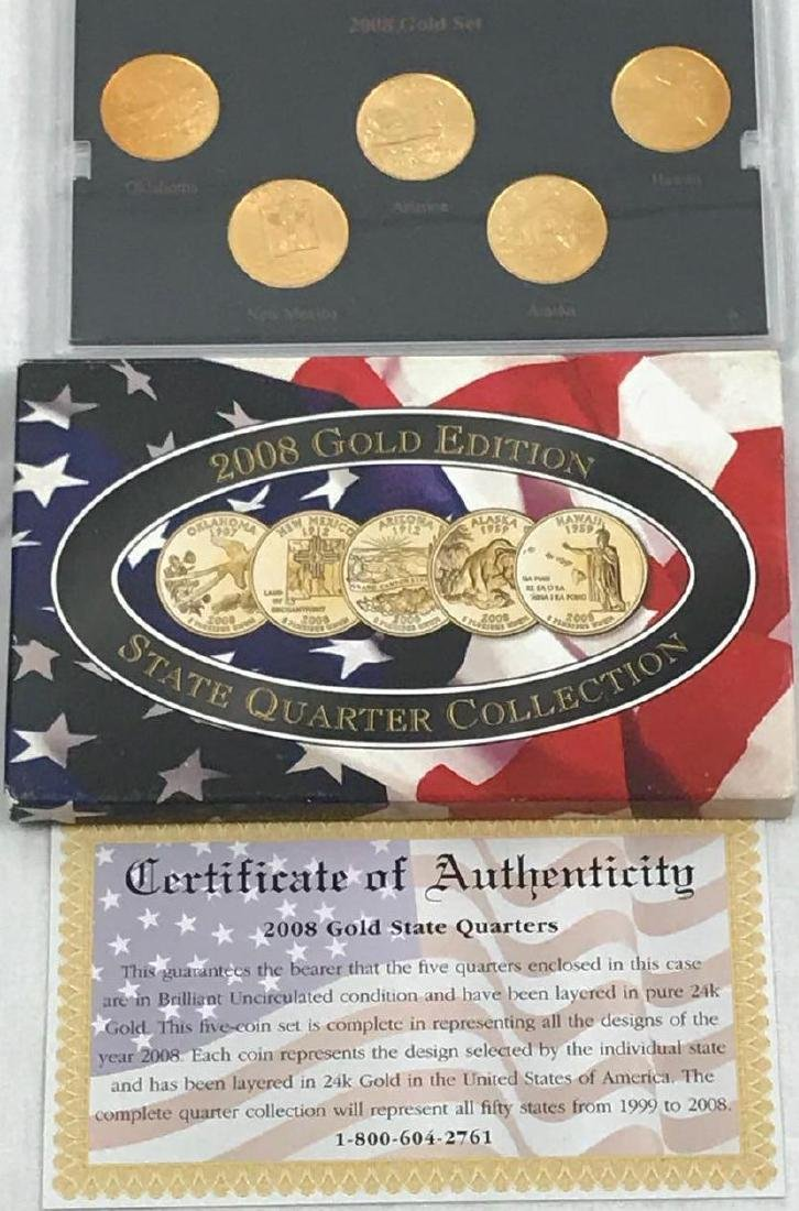 Collector Gold Statehood Coin Set 2008