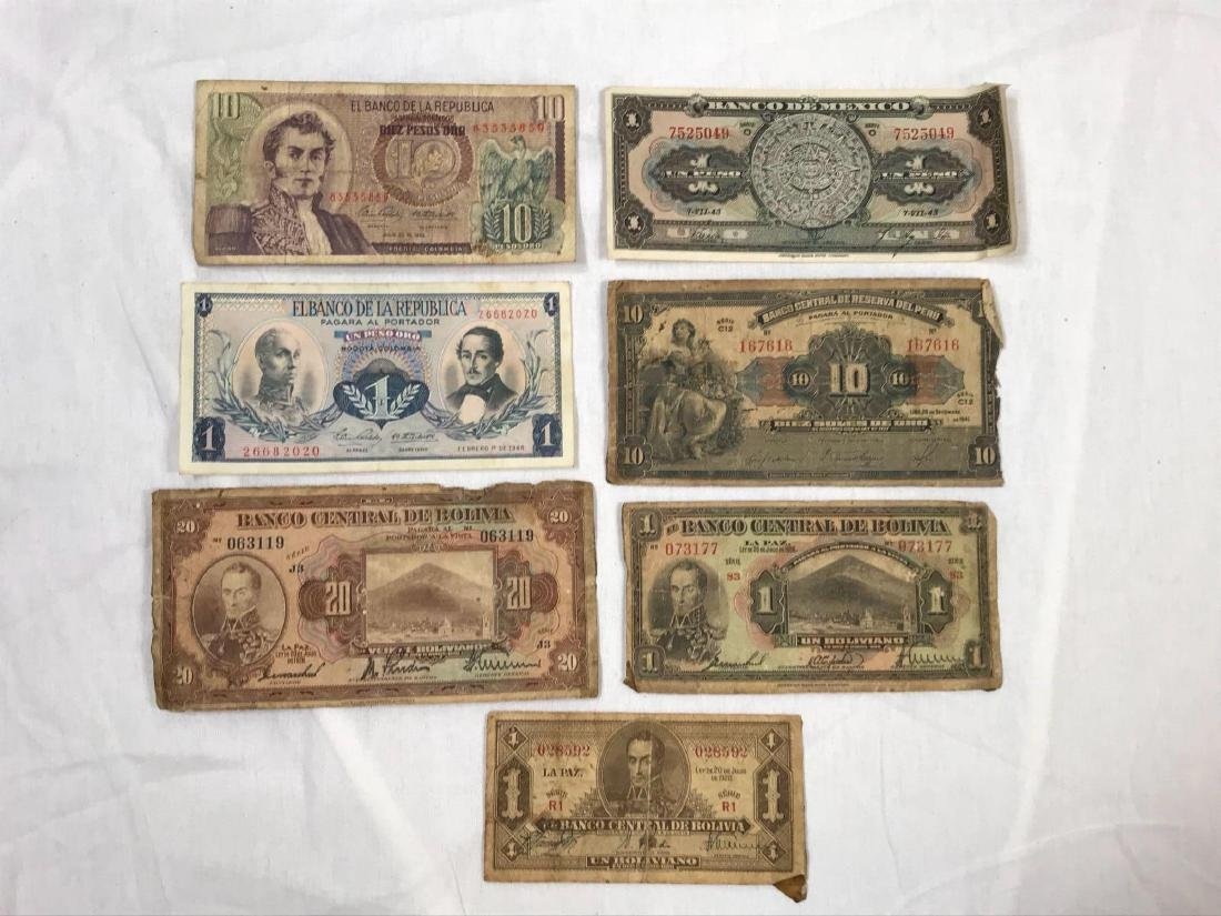 Latin American Foreign Currency Lot