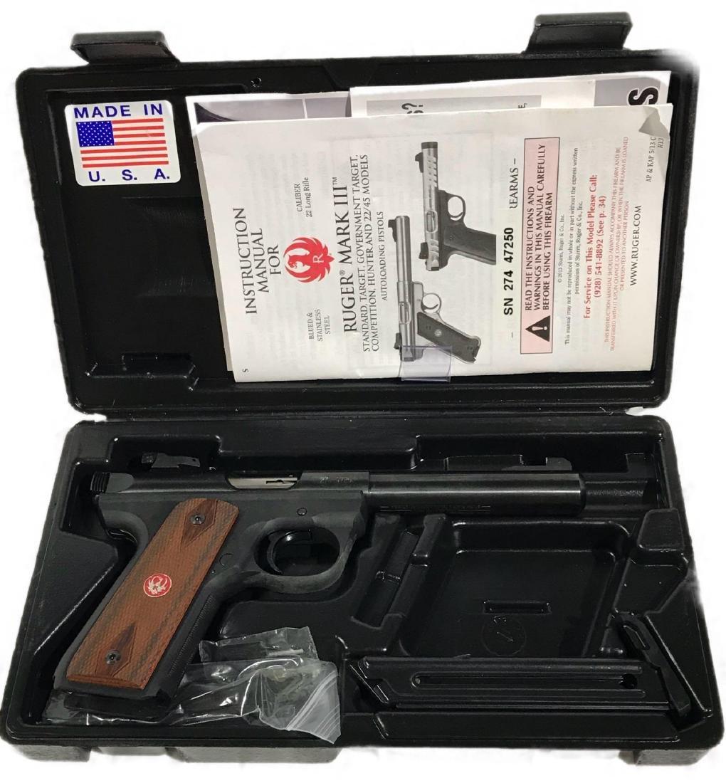 Ruger Mark III 22 Long Rifle Pistol 22/45
