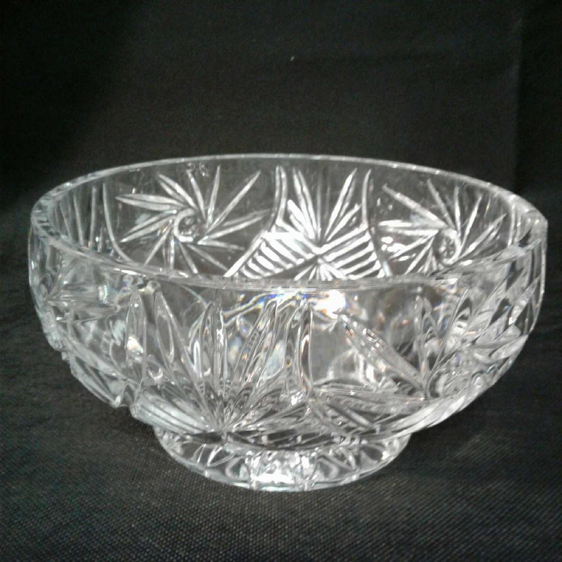 "Crystal Bowl 8""D x 4""H"