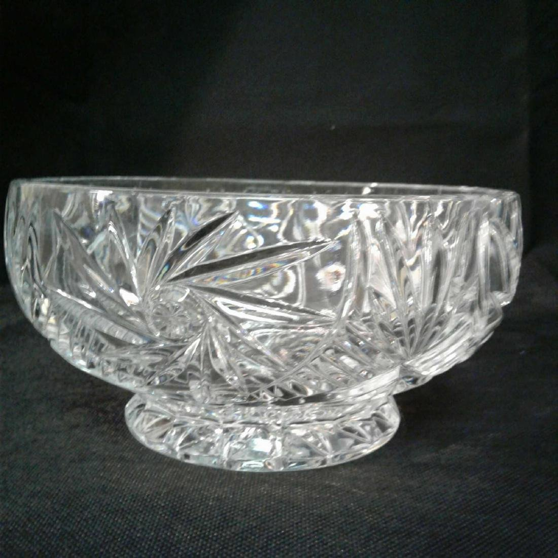 "Crystal Bowl 8""D x 4""H - 3"