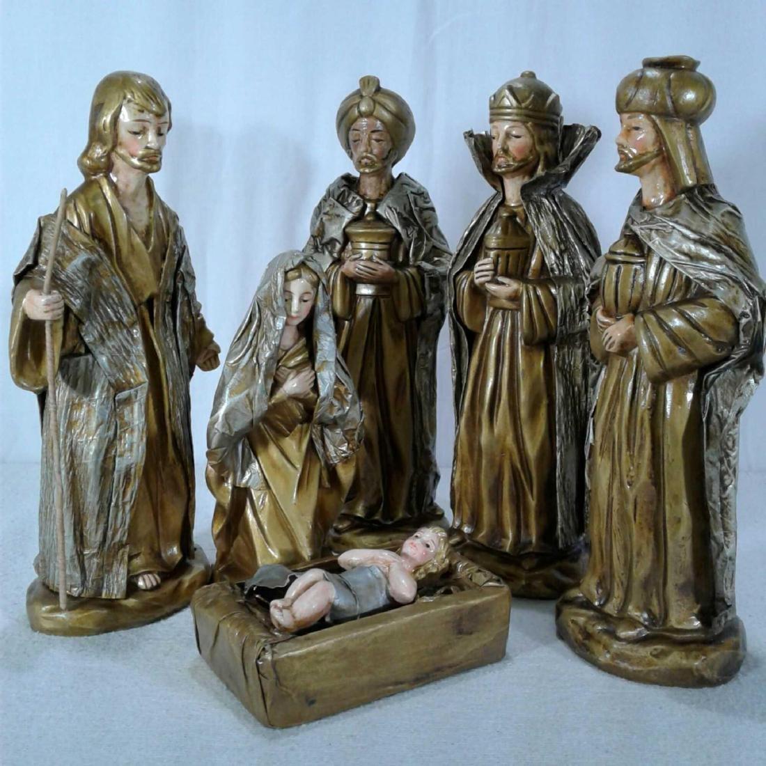 Nativity Scene 6 Piece Set - 8