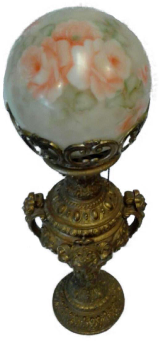 "Vintage Globe Lamp 26.5"""