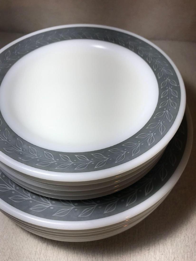 12 Pyrex Double Tough Plates Grecian Pattern - 2