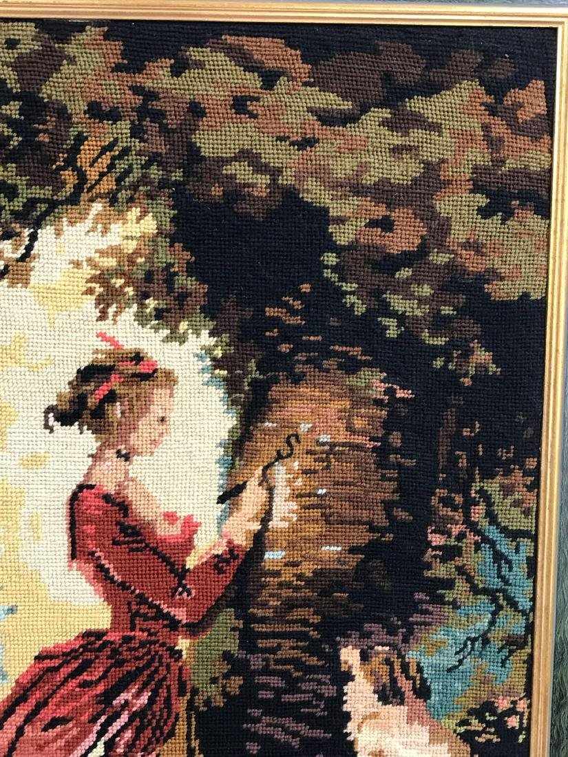 Vintage Framed Needlepoint Wall Art - 3