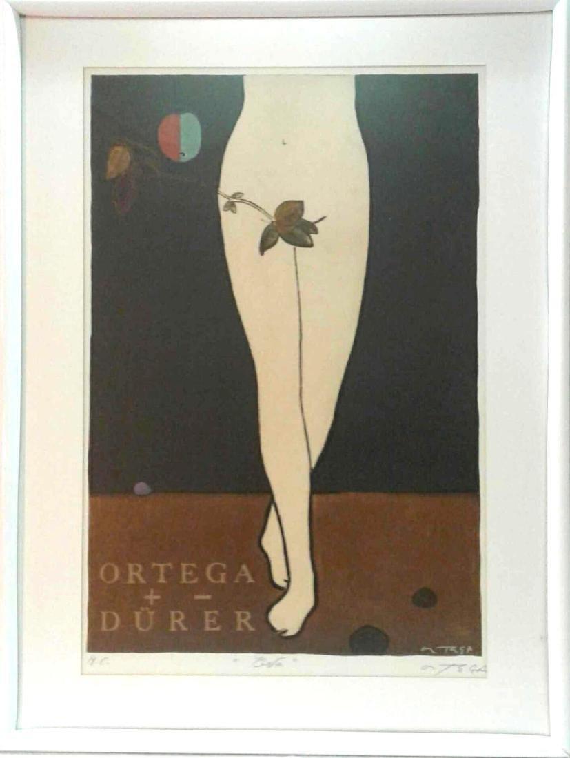 """Jose Ortega Print, """"Eva"""" Tribute to Albrecht Durer"""