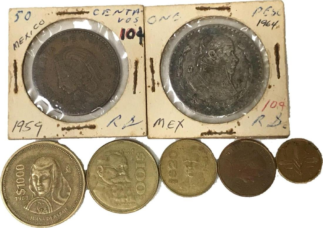 Vintage Mexico Coin Collection