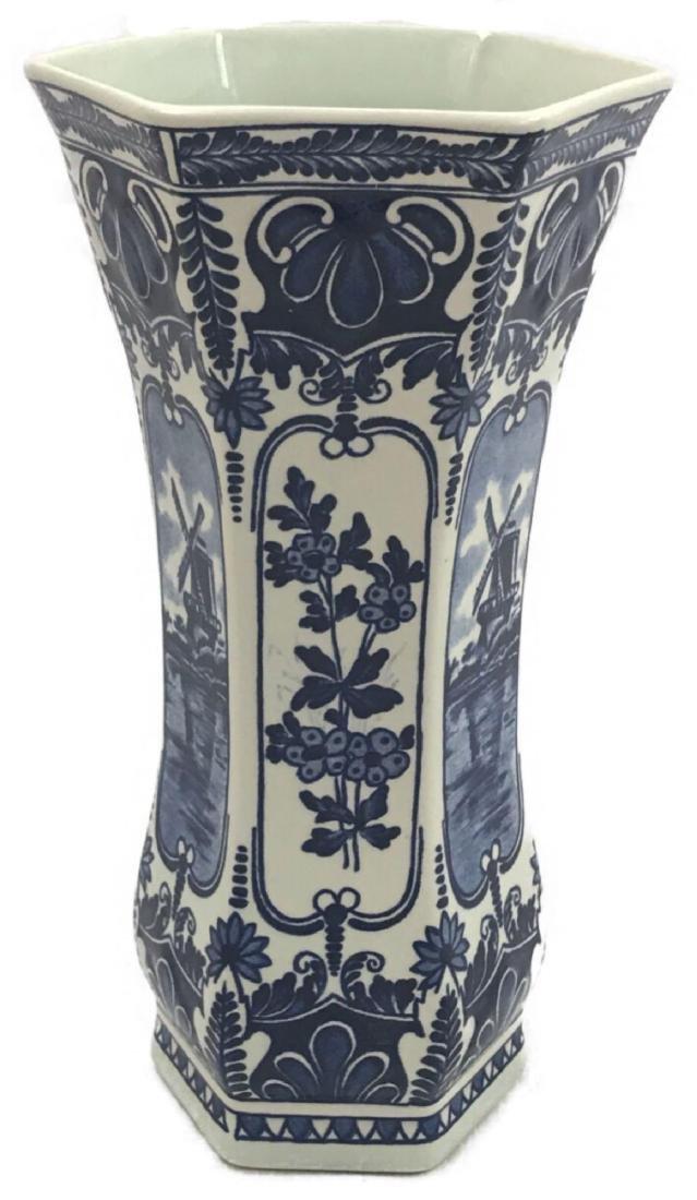 Boch Royal Sphinx Delft Blue Vase Holland